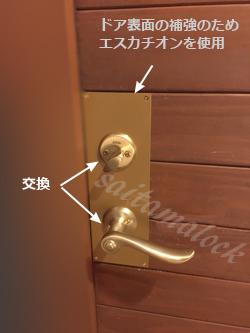 木製玄関ドアWEST